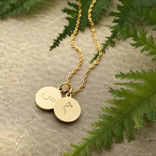Load image into Gallery viewer, 2+ LETTER PENDANT / COIN NECKLACE - Accessories - Nominal - Third Culture Boutique