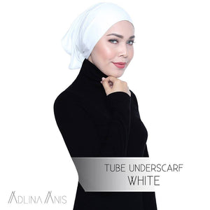 Tube Underscarf - White - underscarves - Adlina Anis - Third Culture Boutique