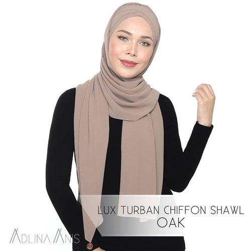 Lux Turban Chiffon Shawl - Oak - Lux Turban - Adlina Anis - Third Culture Boutique