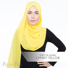 Load image into Gallery viewer, Chiffon Shawl - Canary Yellow - Premium Chiffon - Adlina Anis - Third Culture Boutique
