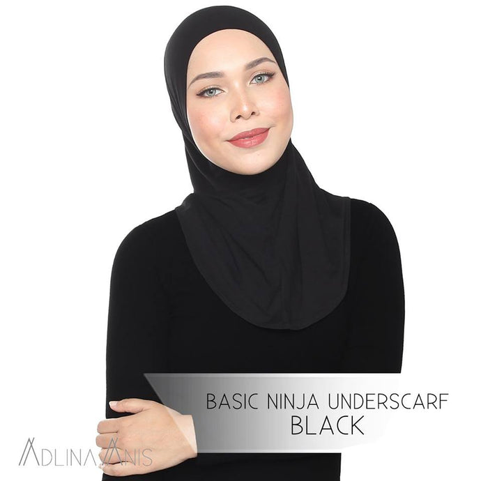 Basic Ninja Underscarf - Black - underscarves - Adlina Anis - Third Culture Boutique