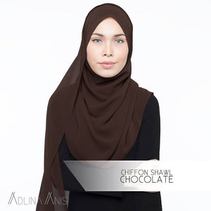 Chiffon Shawl - Chocolate - Premium Chiffon - Adlina Anis - Third Culture Boutique