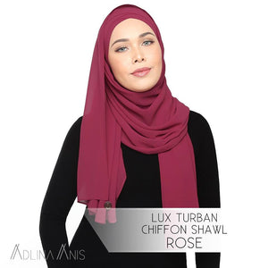 Lux Turban Chiffon Shawl - Rose - Lux Turban - Adlina Anis - Third Culture Boutique
