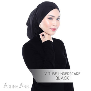 V Tube Underscarf - Black - underscarves - Adlina Anis - Third Culture Boutique