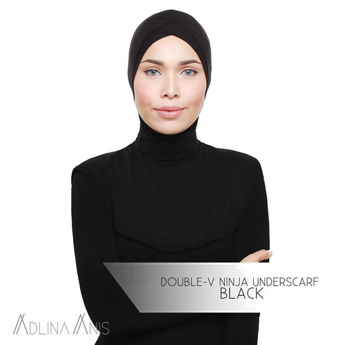 Double-V Ninja Underscarf - Black - underscarves - Adlina Anis - Third Culture Boutique