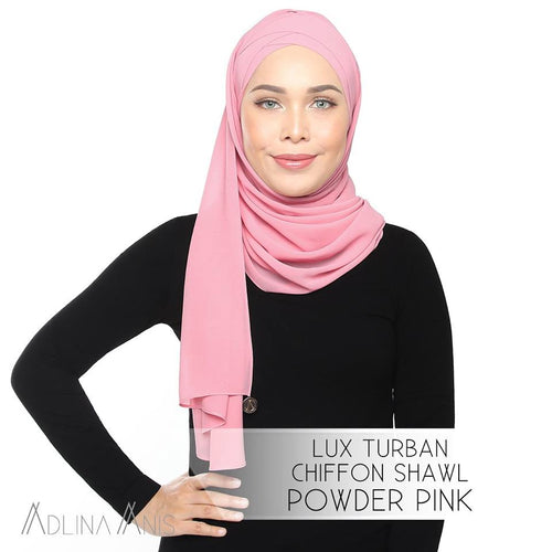 Lux Turban Chiffon Shawl - Powder Pink - Lux Turban - Adlina Anis - Third Culture Boutique