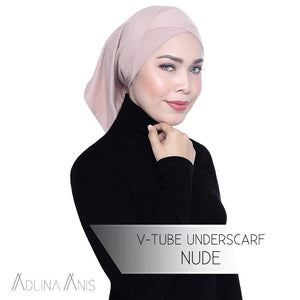 V Tube Underscarf - Nude - underscarves - Adlina Anis - Third Culture Boutique