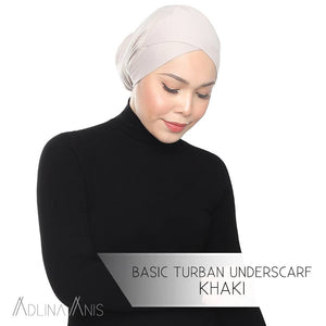 Basic Turban Underscarf - Khaki - underscarves - Adlina Anis - Third Culture Boutique