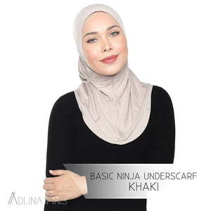 Basic Ninja Underscarf - Khaki - underscarves - Adlina Anis - Third Culture Boutique
