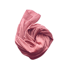 Load image into Gallery viewer, Pleated Chiffon Hijab | Pink Quartz