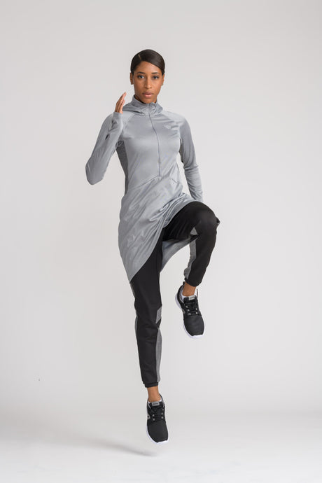 Performance Tech Top - Grey - sportswear tops - Dignitii Activewear - Third Culture Boutique