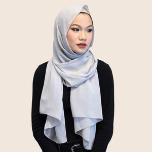 Niswa Fashion - Chiffon Scarf - DOVE GREY - Basic Chiffon - Niswa Fashion - Third Culture Boutique