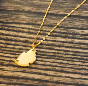 READY MADE MAURITIUS MAP NECKLACE - GOLD (55-65cm) - Accessories - Nominal - Third Culture Boutique