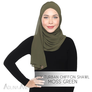 Lux Turban Chiffon Shawl - Moss Green - Lux Turban - Adlina Anis - Third Culture Boutique