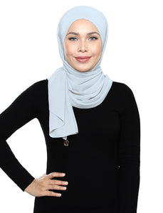 Lux Square Chiffon Shawl - Misty Grey