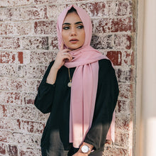 Load image into Gallery viewer, Niswa Fashion - Chiffon Scarf - PETAL PINK - Basic Chiffon - Niswa Fashion - Third Culture Boutique