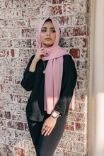 Load image into Gallery viewer, Niswa Fashion - Chiffon Scarf - PETAL PINK - Third Culture Boutique