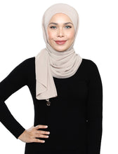 Load image into Gallery viewer, Lux Square Chiffon Shawl - Powder Puff