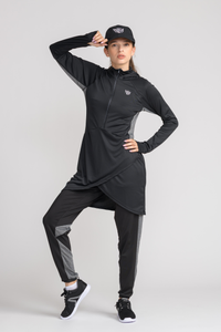 Performance Tech Top - Black (S, M) - sportswear tops - Dignitii Activewear - Third Culture Boutique