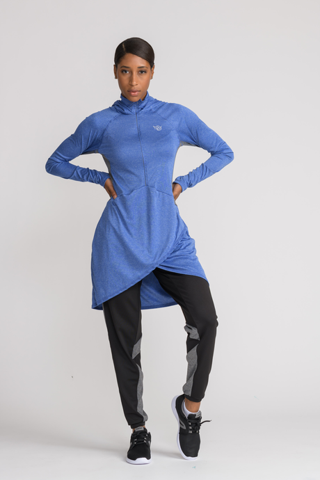 Performance Tech Top - Blue - sportswear tops - Dignitii Activewear - Third Culture Boutique