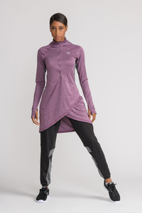 Performance Tech Top - Plum - sportswear tops - Dignitii Activewear - Third Culture Boutique
