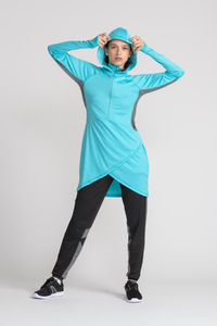 Performance Tech Top - Teal - sportswear tops - Dignitii Activewear - Third Culture Boutique