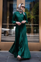Load image into Gallery viewer, PRE-ORDER: Ayla Pleated Satin Gown - Emerald - Dresses - Niswa Fashion - Third Culture Boutique