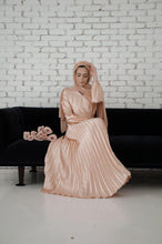 Load image into Gallery viewer, PRE-ORDER: Ayla Pleated Satin Gown - Sunlight Gold - Dresses - Niswa Fashion - Third Culture Boutique