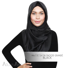 Load image into Gallery viewer, Matte Satin Snood Grande - Black - Snoods Grande - Adlina Anis - Third Culture Boutique