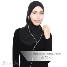 Load image into Gallery viewer, Contouring Ninja Echo - Black - Hijabs - Adlina Anis - Third Culture Boutique