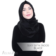 Load image into Gallery viewer, Silky Satin Snood - Black - Snoods - Adlina Anis - Third Culture Boutique