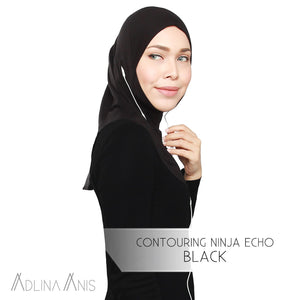 Contouring Ninja Echo - Black - Hijabs - Adlina Anis - Third Culture Boutique