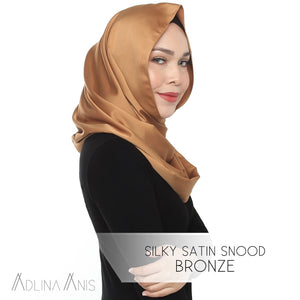 Silky Satin Snood - Bronze - Snoods - Adlina Anis - Third Culture Boutique