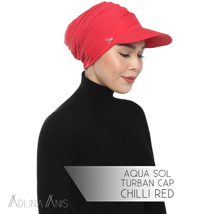 Aqua Sol Turban Cap - Chili Red - sports - Adlina Anis - Third Culture Boutique