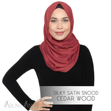 Load image into Gallery viewer, Silky Satin Snood - Cedarwood - Third Culture Boutique