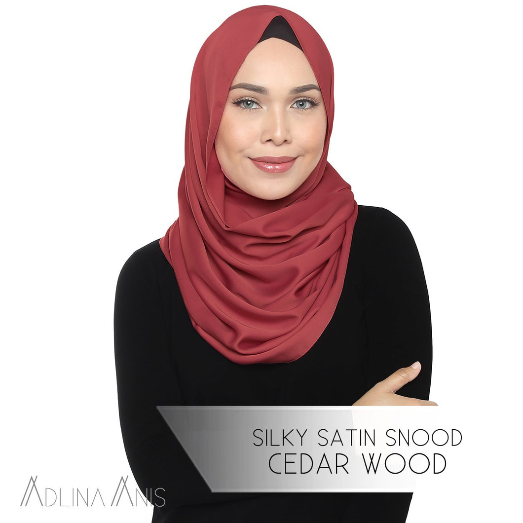 Silky Satin Snood - Cedarwood - Snoods - Adlina Anis - Third Culture Boutique