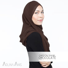 Load image into Gallery viewer, Chiffon Shawl - Chocolate - Premium Chiffon - Adlina Anis - Third Culture Boutique
