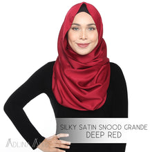 Load image into Gallery viewer, Silky Satin Snood Grande - Deep Red - Snood Grande - Adlina Anis - Third Culture Boutique