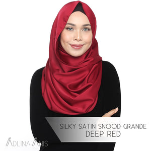 Silky Satin Snood Grande - Deep Red - Snood Grande - Adlina Anis - Third Culture Boutique