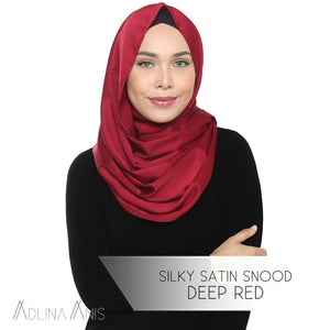 Silky Satin Snood - Deep Red - Snoods - Adlina Anis - Third Culture Boutique