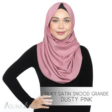 Load image into Gallery viewer, Silky Satin Snood Grande - Dusty Pink - Snoods Grande - Adlina Anis - Third Culture Boutique