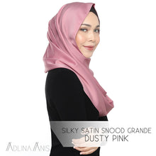 Load image into Gallery viewer, Silky Satin Snood - Dusty Pink - Snoods - Adlina Anis - Third Culture Boutique