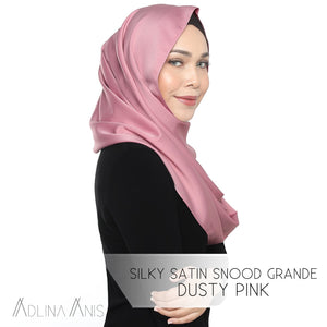 Silky Satin Snood Grande - Dusty Pink - Third Culture Boutique