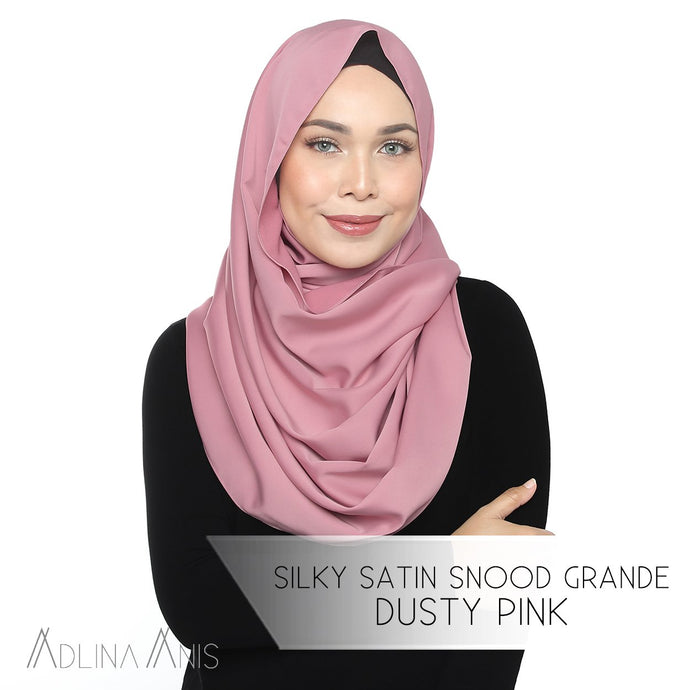 Silky Satin Snood Grande - Dusty Pink - Snoods Grande - Adlina Anis - Third Culture Boutique