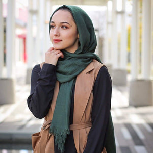 Niswa Fashion - Viscose scarf - Forest Green - viscose - Niswa Fashion - Third Culture Boutique