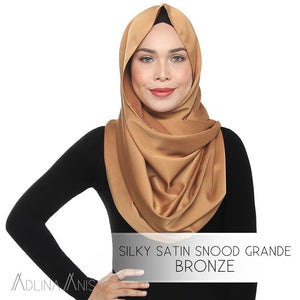Silky Satin Snood Grande - Bronze - Third Culture Boutique