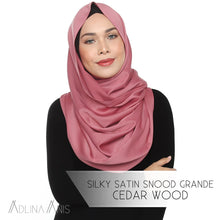 Load image into Gallery viewer, Silky Satin Snood Grande - Cedarwood - Snoods Grande - Adlina Anis - Third Culture Boutique