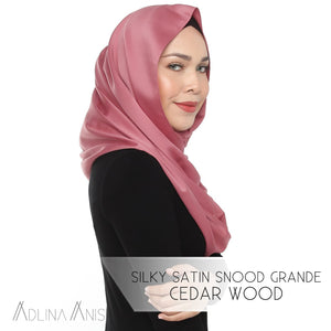 Silky Satin Snood Grande - Cedarwood - Third Culture Boutique
