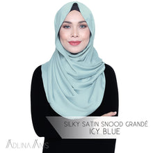 Load image into Gallery viewer, Silky Satin Snood Grande - Icy Blue - Snoods Grande - Adlina Anis - Third Culture Boutique