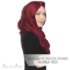 Silky Satin Snood Grande - Rumba Red - Snoods Grande - Adlina Anis - Third Culture Boutique